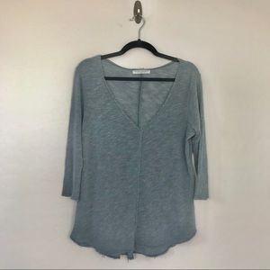 Tops - Project Social T slouchy, raw hem, V Neck Top